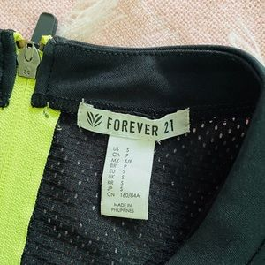 Forever 21 Tops - Unpadded Black Sport Bra with Neon zip size S